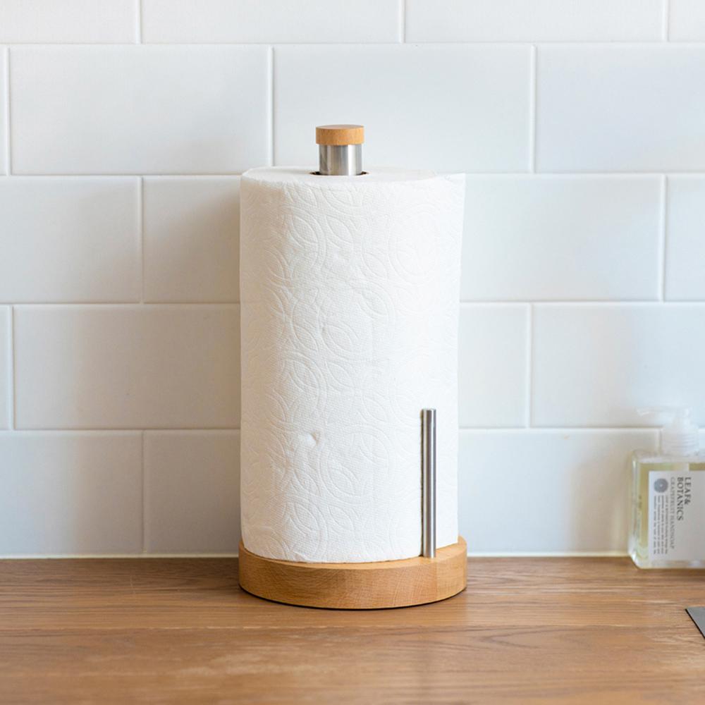 IDEACO|Plus原木不鏽鋼廚房紙巾收納座(美規加大款)
