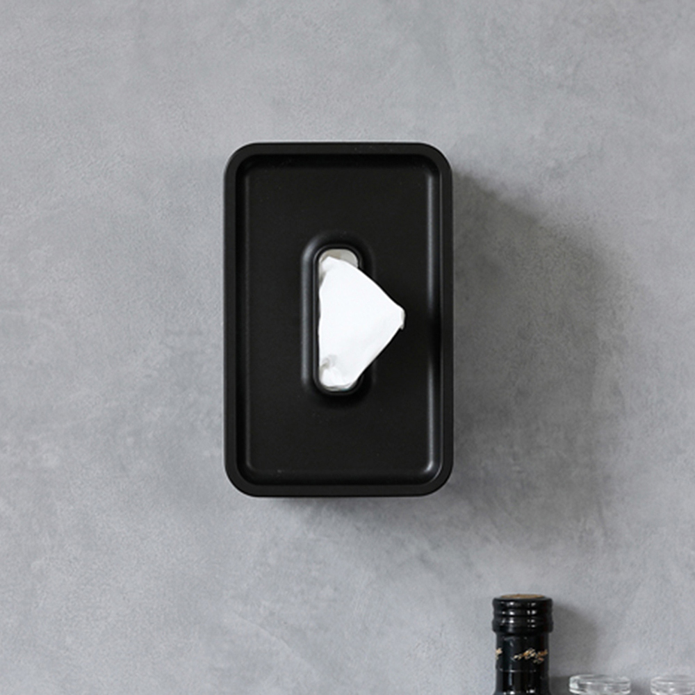 ideaco 壁掛/桌上兩用餐巾紙盒(內徑17X10.6X7.5CM)