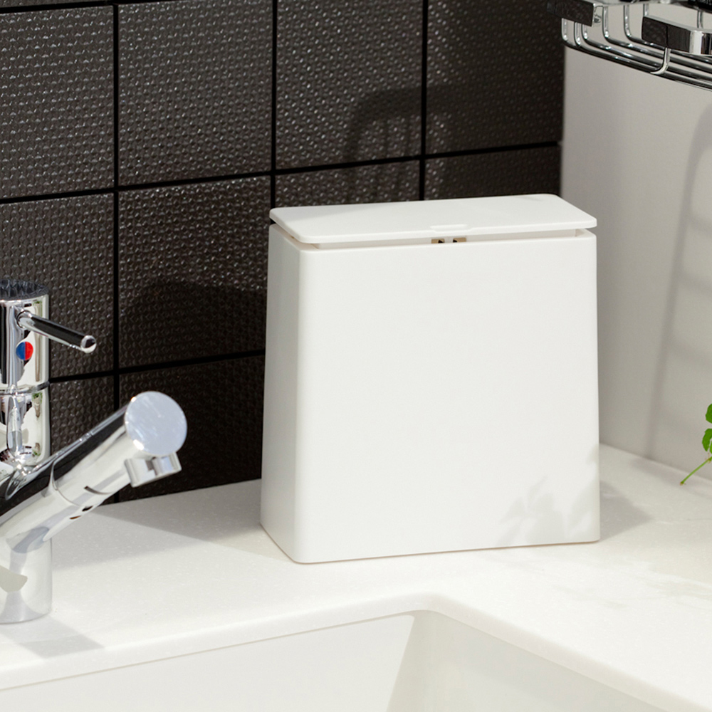 IDEACO|方形桌邊按壓式垃圾桶-1.4L
