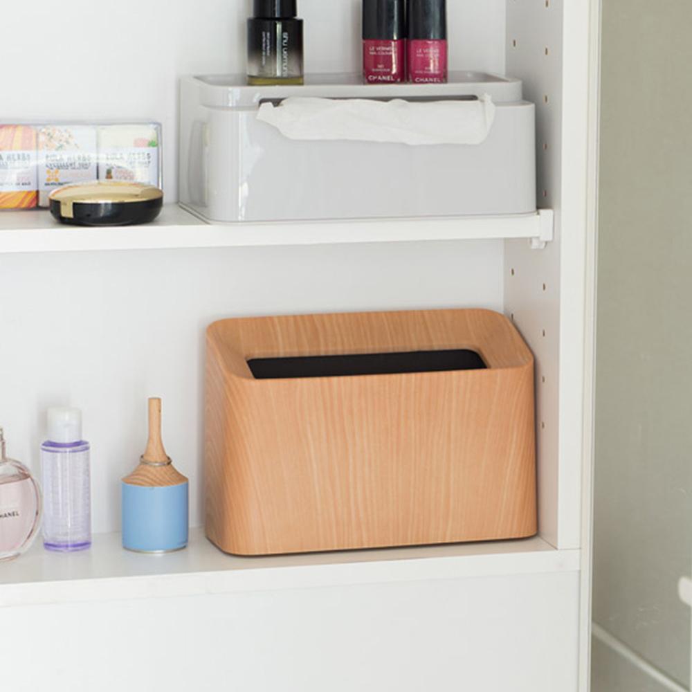 IDEACO|橡木紋纖形斜口桌邊置物/垃圾桶-1.7L