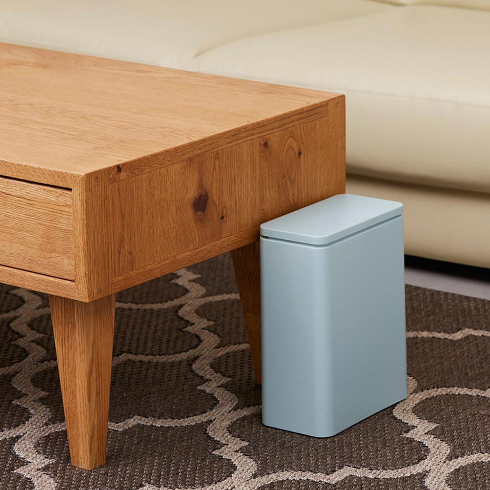 IDEACO|防臭按壓式桌邊/落地垃圾桶-3L