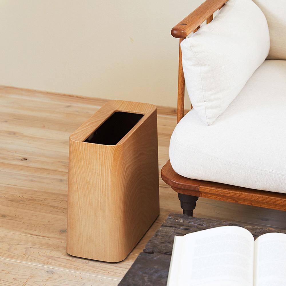 IDEACO|橡木紋方形家用垃圾桶-11.5L