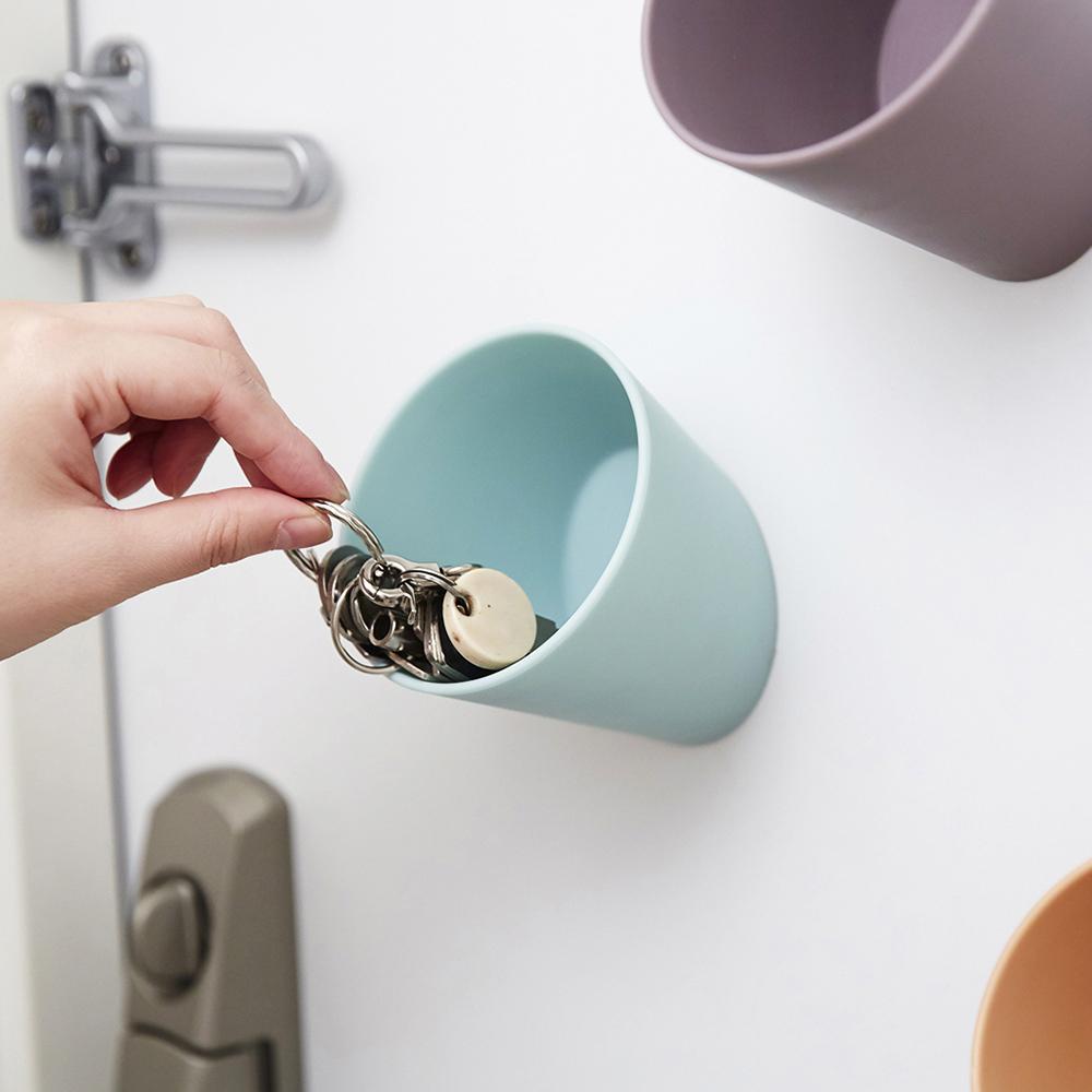 ideaco|壁掛/磁吸兩用杯形置物掛勾筒