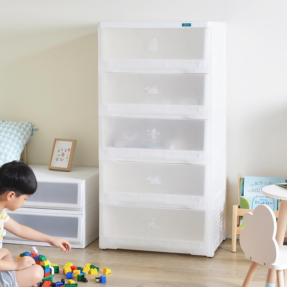 +O家窩 65面寬-特大款福爾摩沙霧透五層抽屜收納櫃-DIY