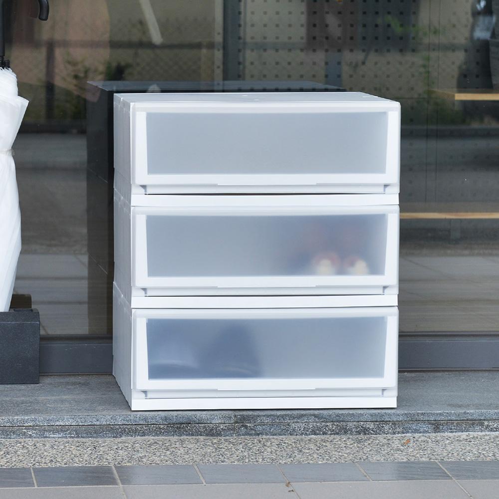 +O家窩|日本製 悠納霧透PP單層抽屜收納箱-DIY-32L-3入-送日本製太洋次氯酸抗菌液-300ml-1入