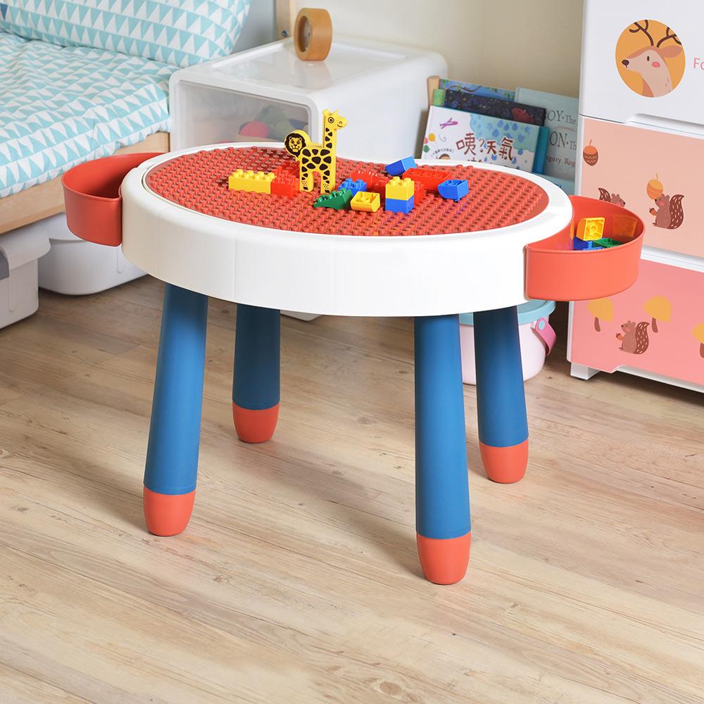 +O家窩|斑比鹿兒童多功能學習/遊戲積木桌-送台製OK牌積木(1kg)