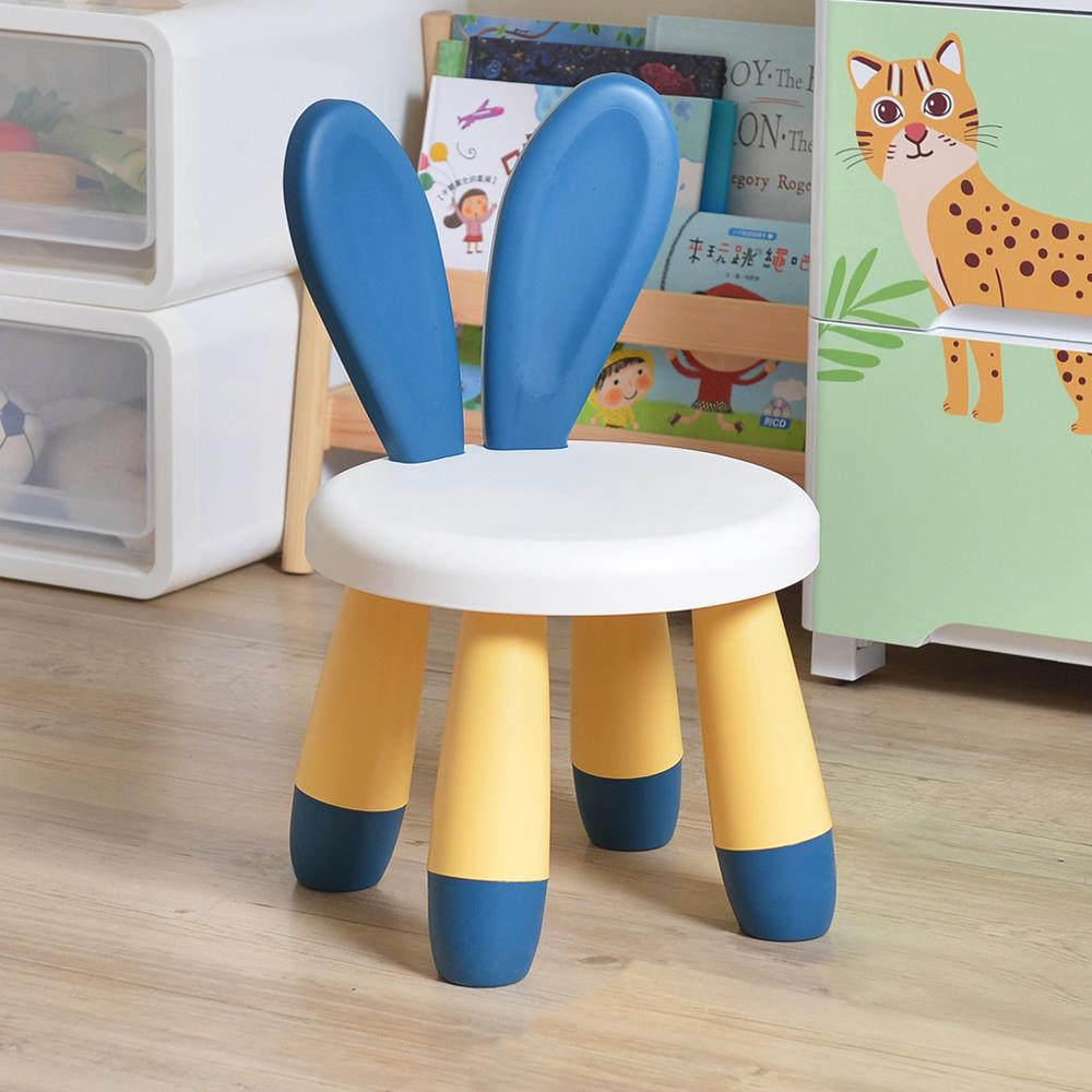 +O家窩|丹尼兔造型椅背兒童椅凳