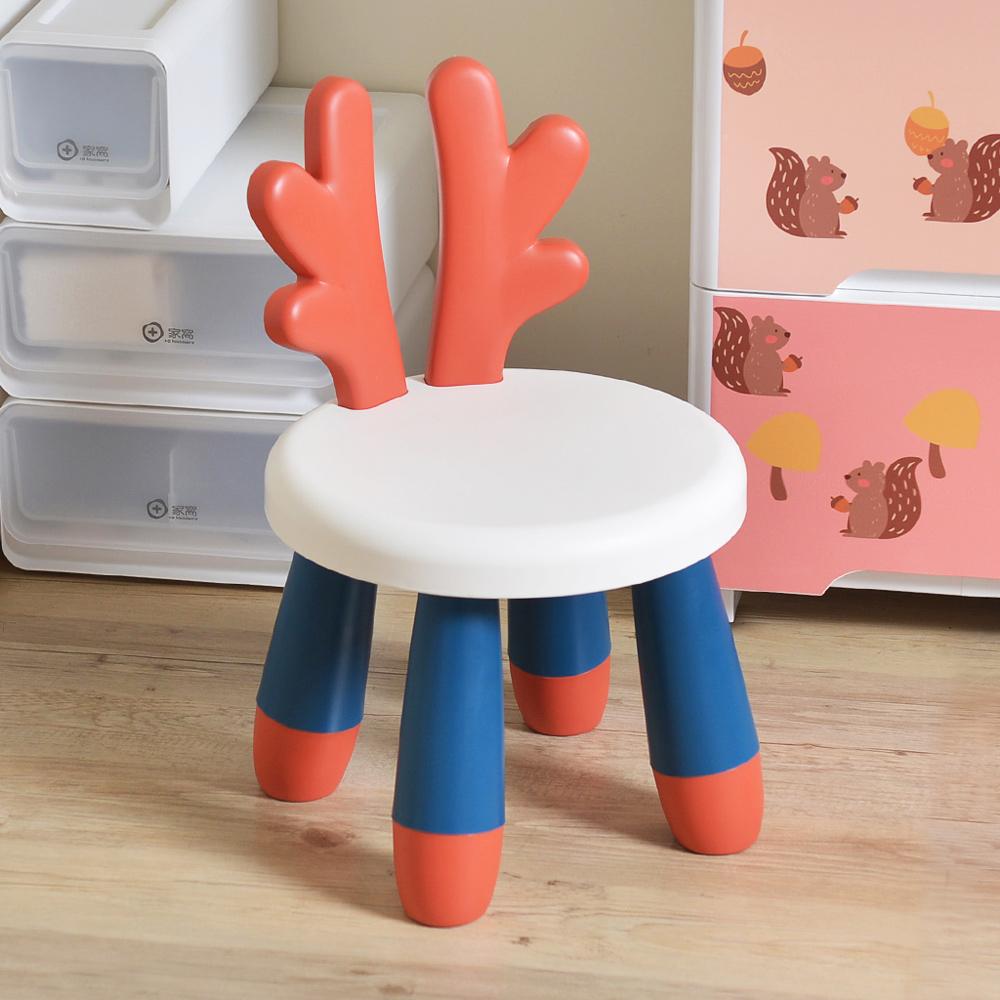 +O家窩|斑比鹿造型椅背兒童椅凳