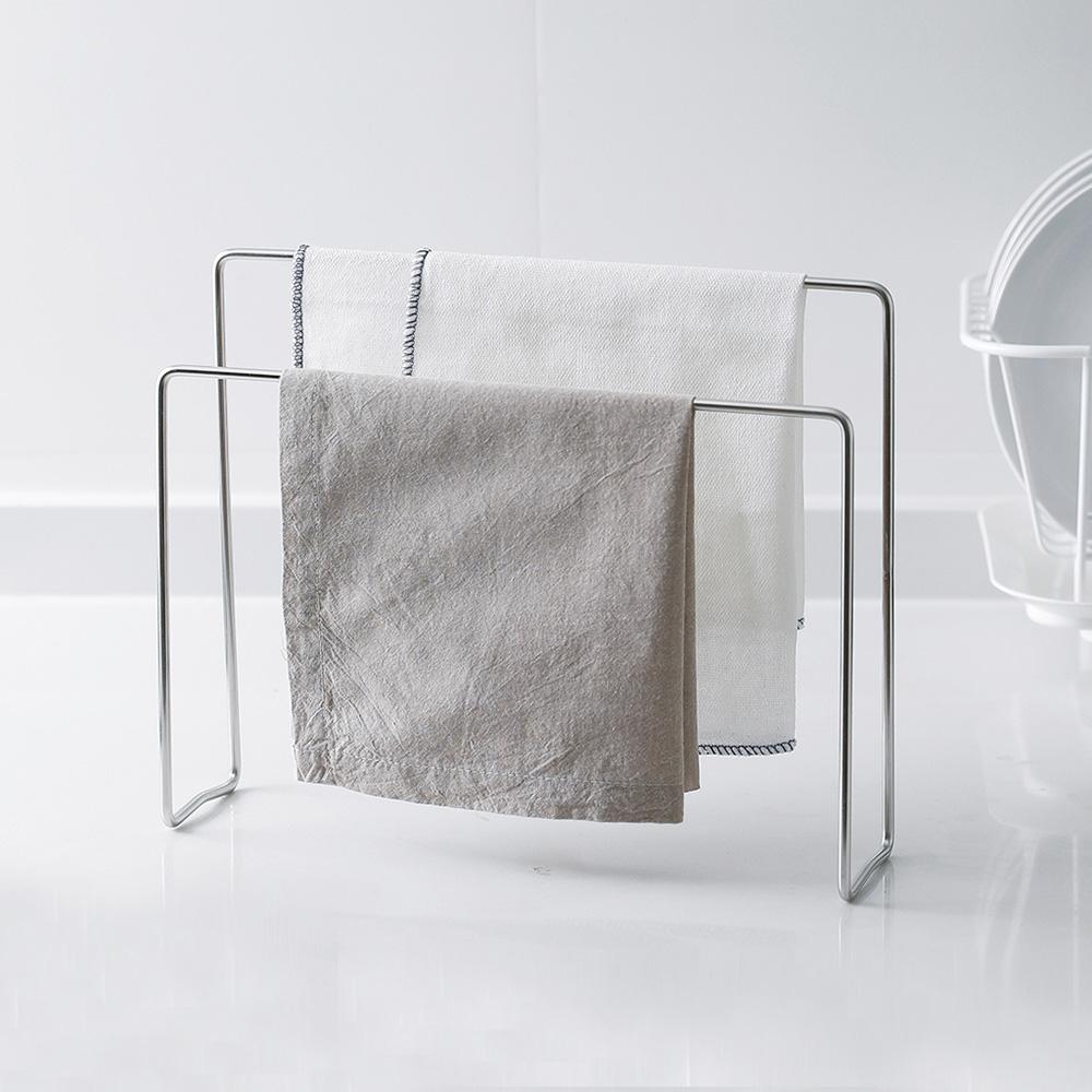 霜山|304不鏽鋼高低兩用毛巾/抹布晾曬收納架