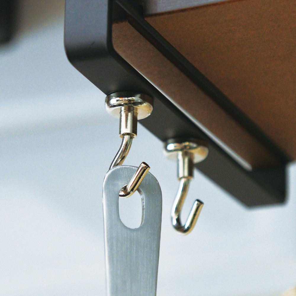 霜山|磁吸式多功能/萬用金屬掛鉤-6入 (廚具/鍋子/抹布/鑰匙吊掛鉤)