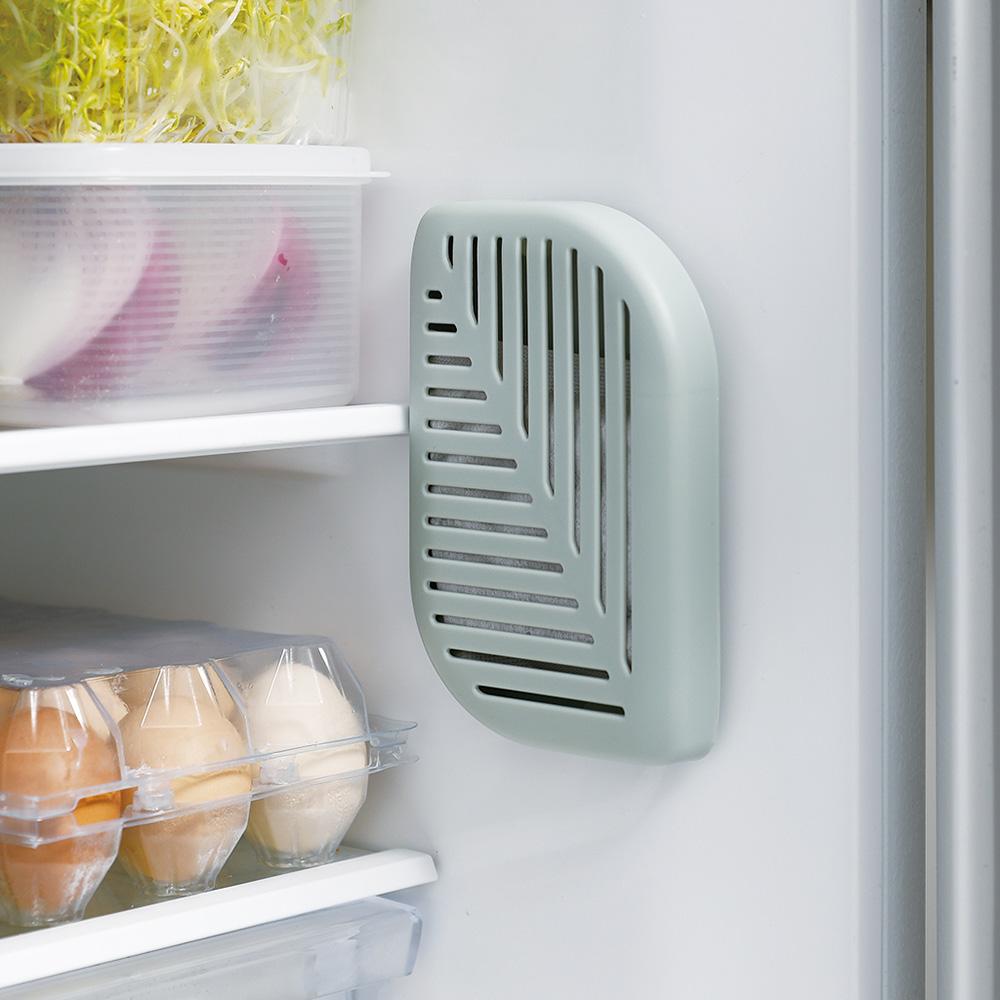 霜山 活性碳冰箱除臭去味/衣櫃防潮吸濕盒(附背膠)-3入