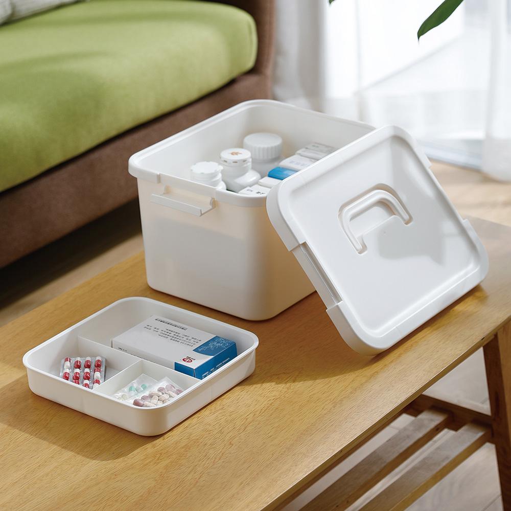 霜山 手提式雙層保健/急救藥箱(不內含急救用品) (大容量/加大型)