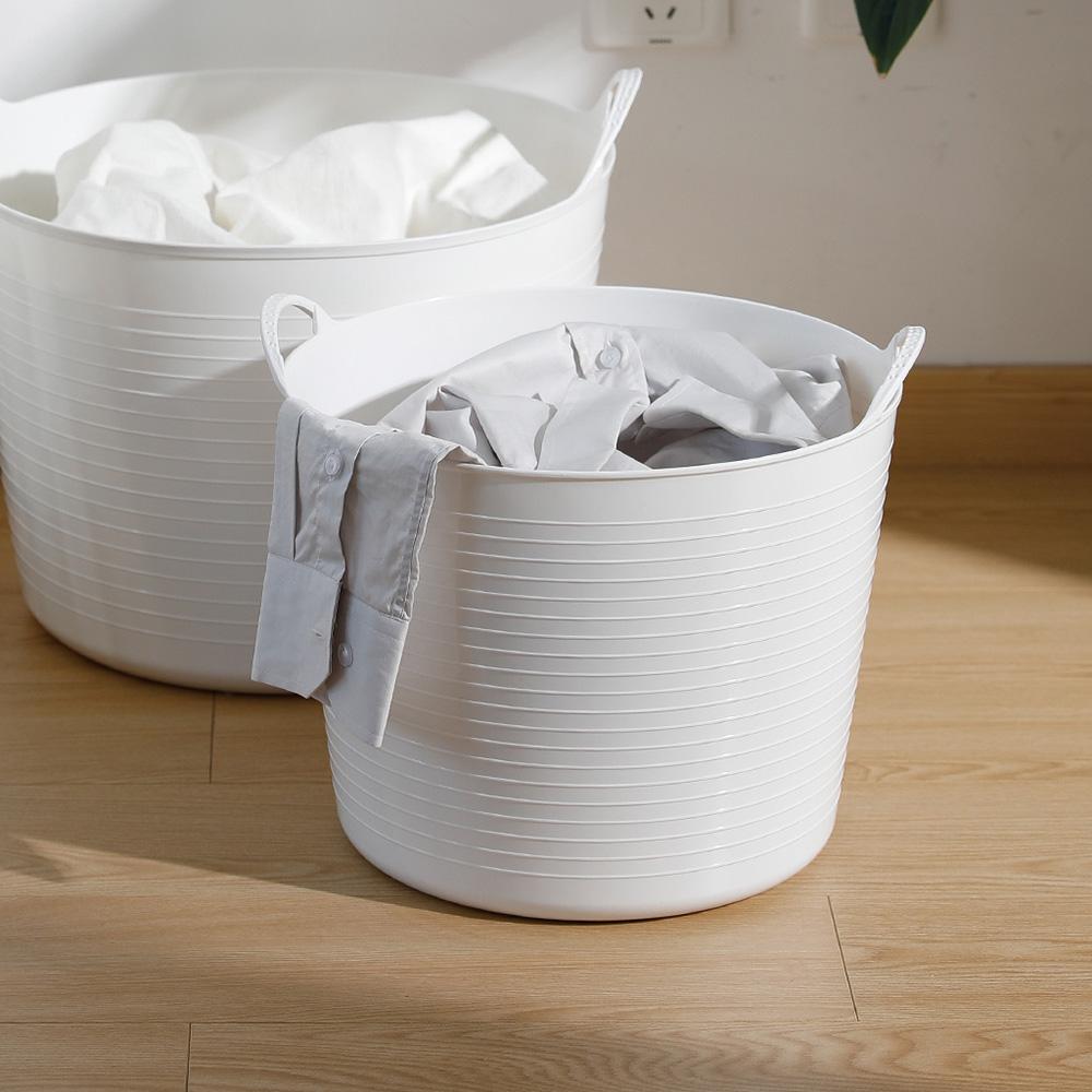 霜山|手提式柔軟防水圓形洗衣/玩具收納籃-15L