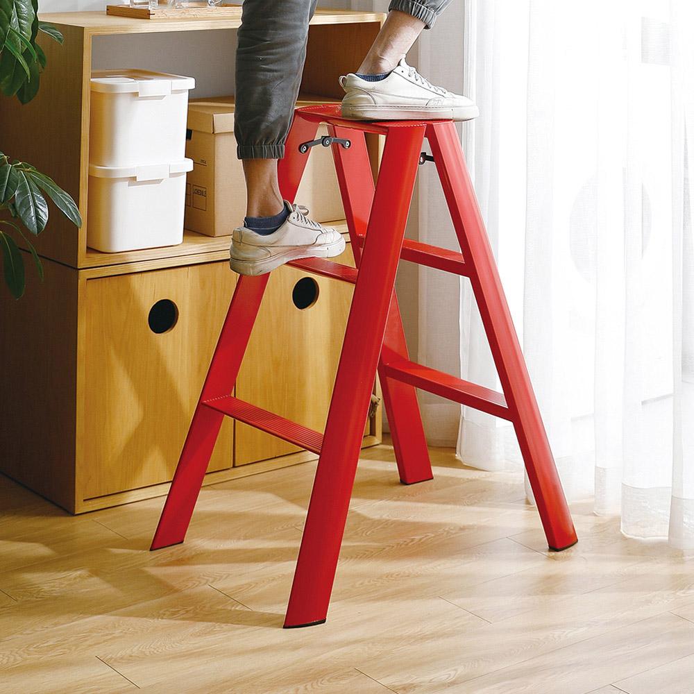 霜山 家用三階鋁合金摺疊踏台梯-3色可選  (鋁梯/梯凳/人字梯/室內梯/防滑梯/馬椅梯)