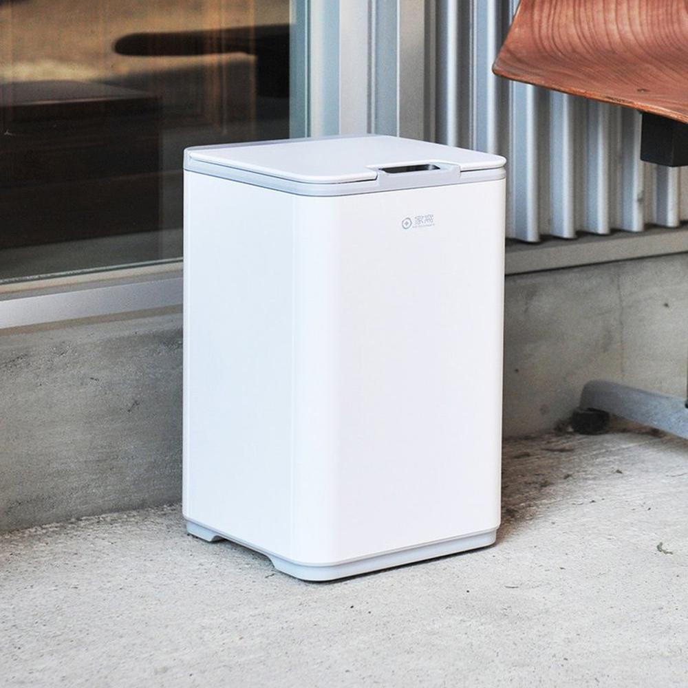 +O家窩|萊妮高效防水感應距離調節式垃圾桶(附內桶)-10L