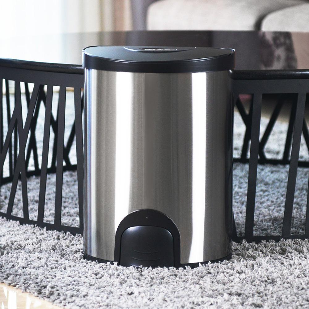 +O家窩|希利腳觸感應不鏽鋼垃圾桶20L