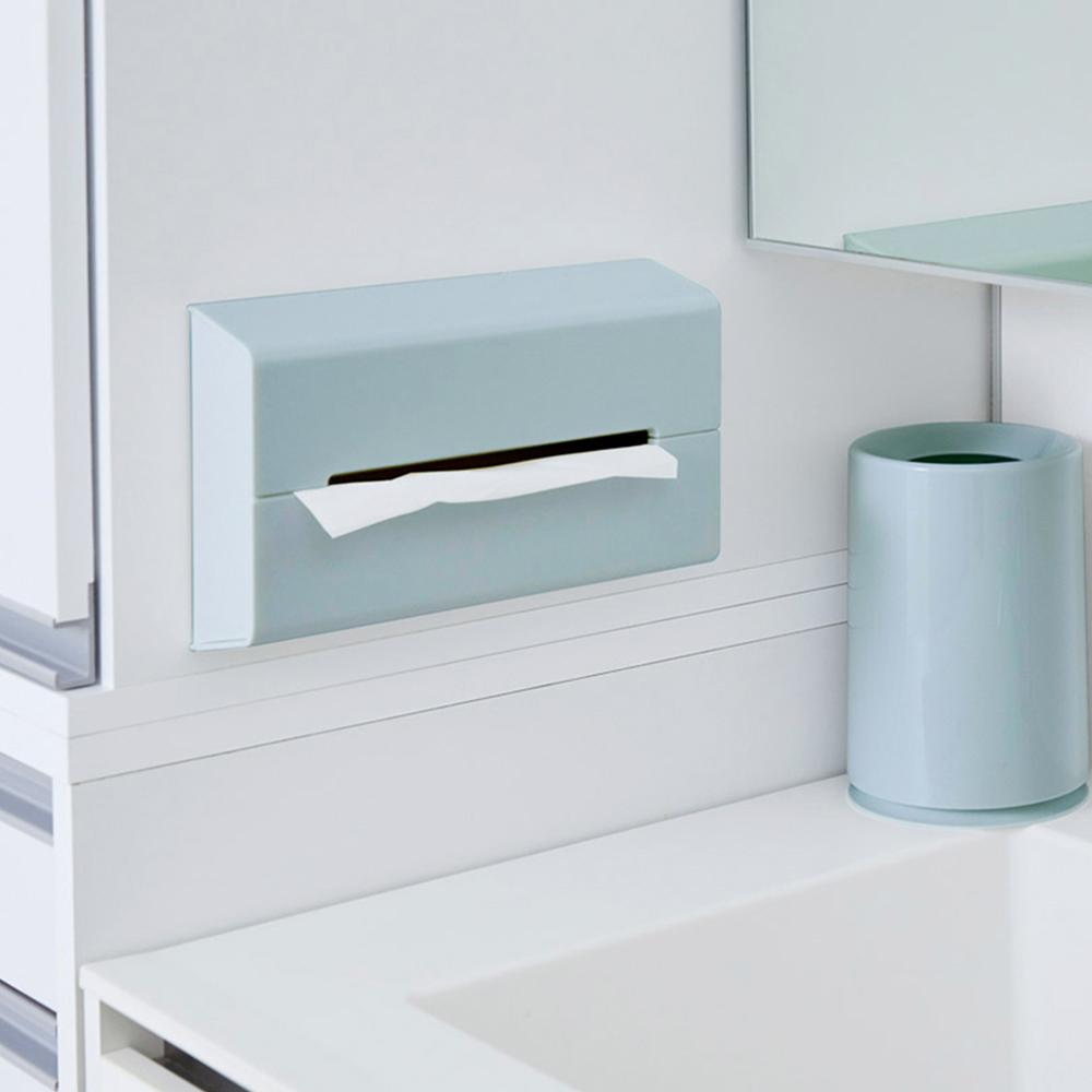 IDEACO|ABS壁掛/桌上兩用面紙架