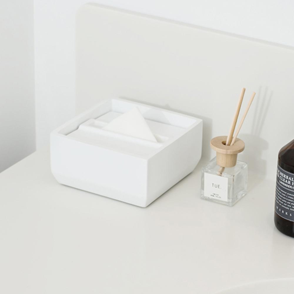 IDEACO|方形下降式沉蓋磨石餐巾紙盒