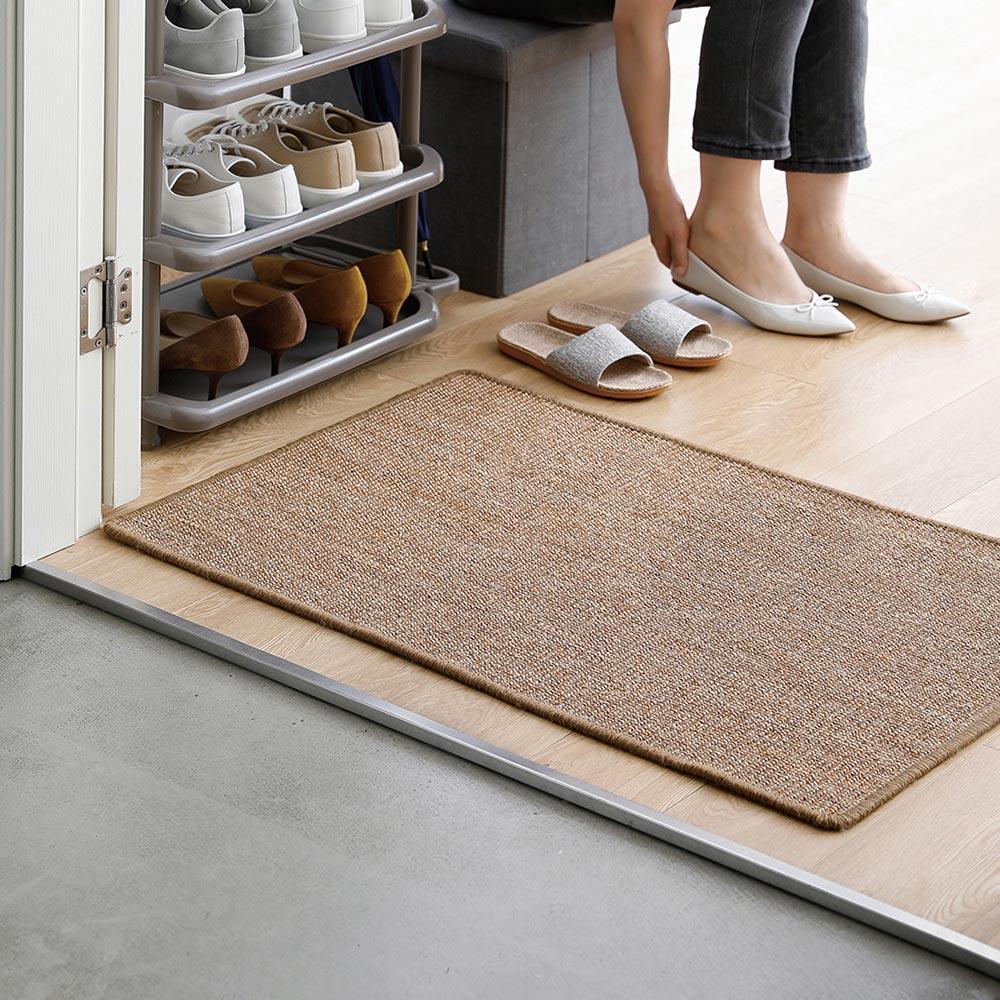 霜山|家用天然劍麻編織防滑耐磨地墊/地毯/貓抓墊-60x90cm (玄關/客廳腳墊/寵物地墊)
