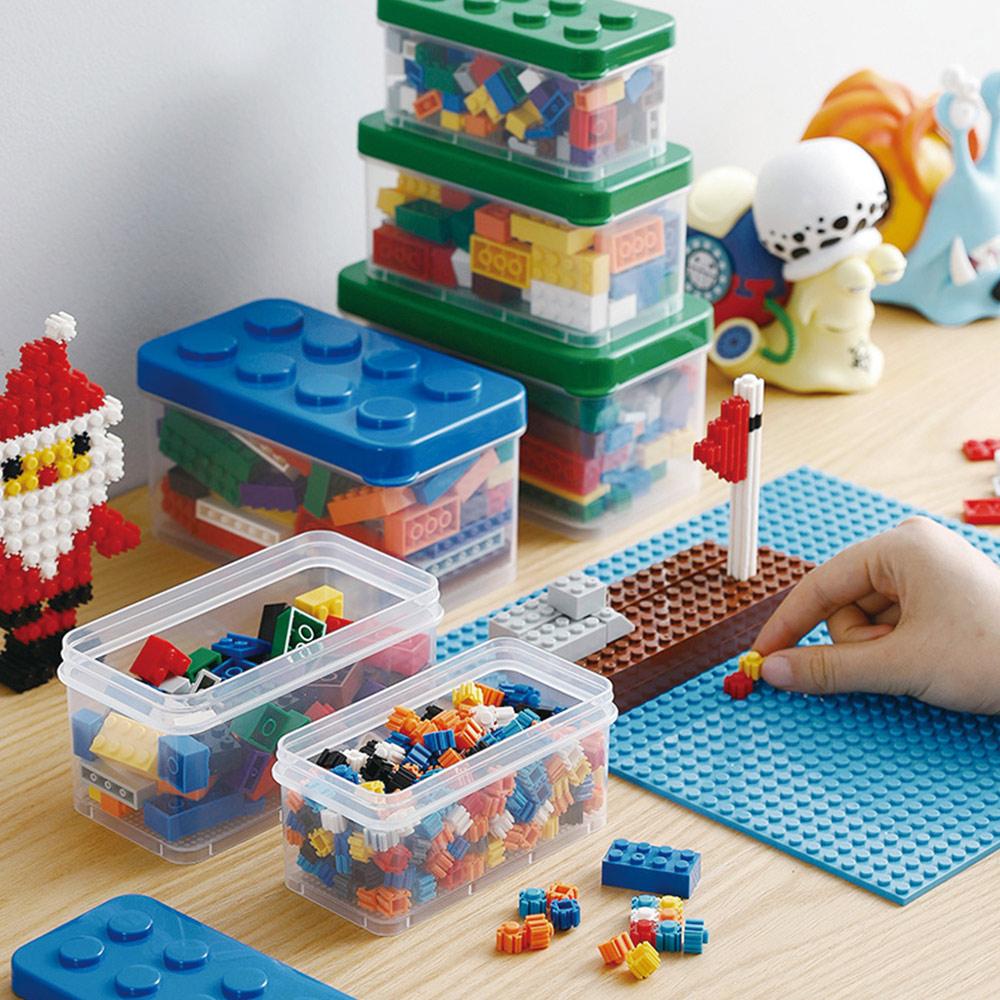 霜山|樂高可疊式小顆粒積木/零件收納盒-大中小3件套組-4色可選