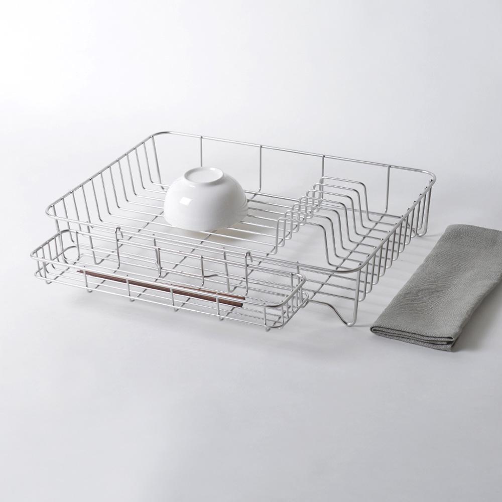 大木金屬|Outline 日製究極鏤線18-8不鏽鋼加大型餐具瀝水籃(附筷架&吸水墊)