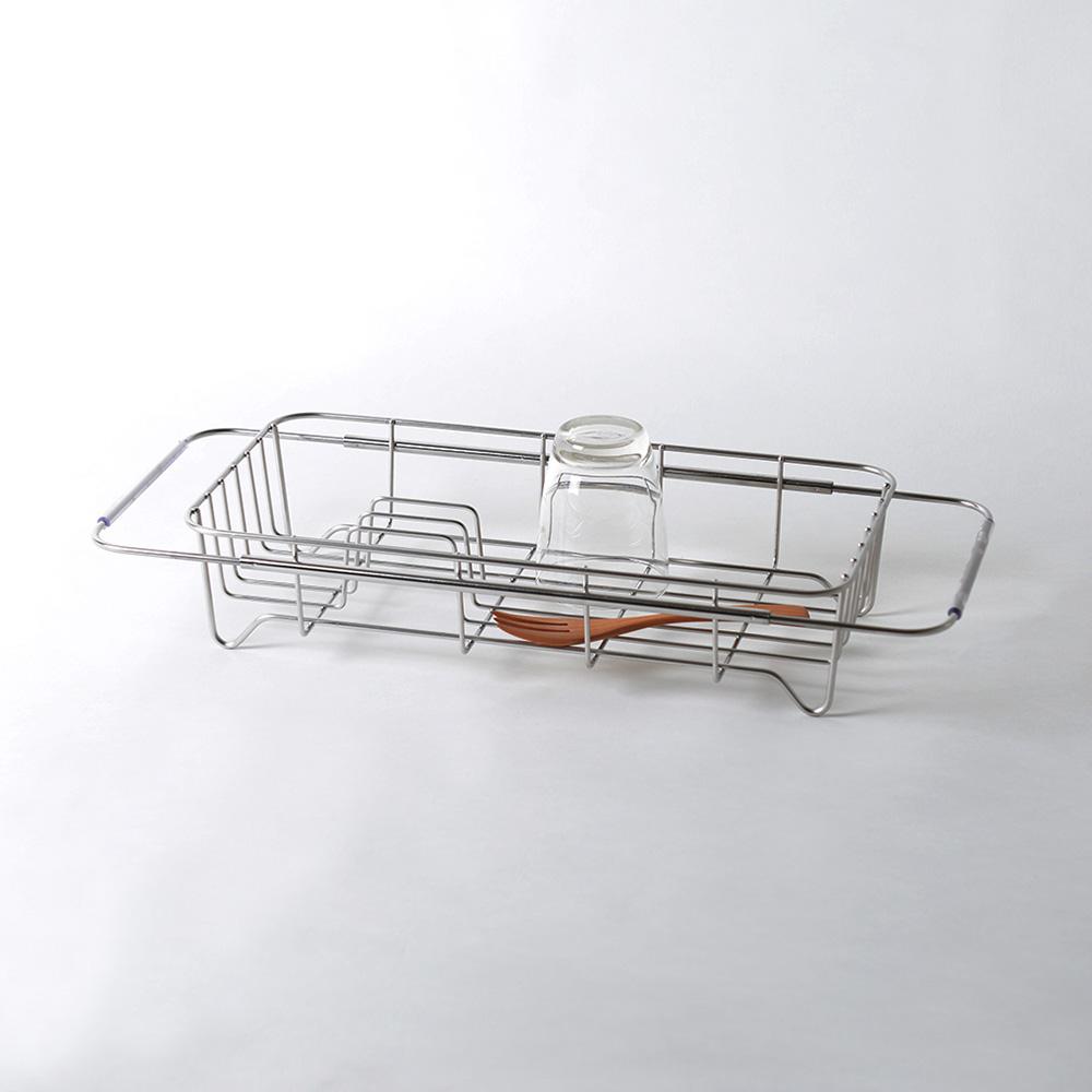 大木金屬|Outline 日製究極鏤線18-8不鏽鋼伸縮式碗盤瀝水籃