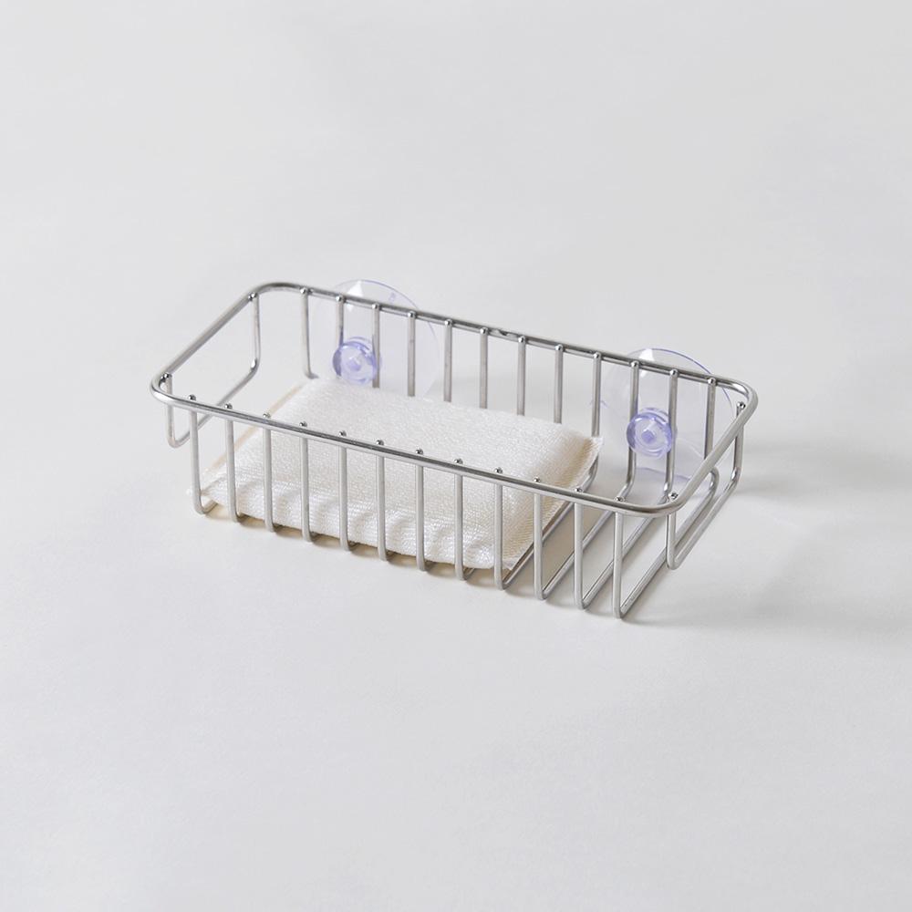 大木金屬|Outline 日製究極鏤線18-8不鏽鋼壁掛式海綿瀝水架 (廚房浴室通用)