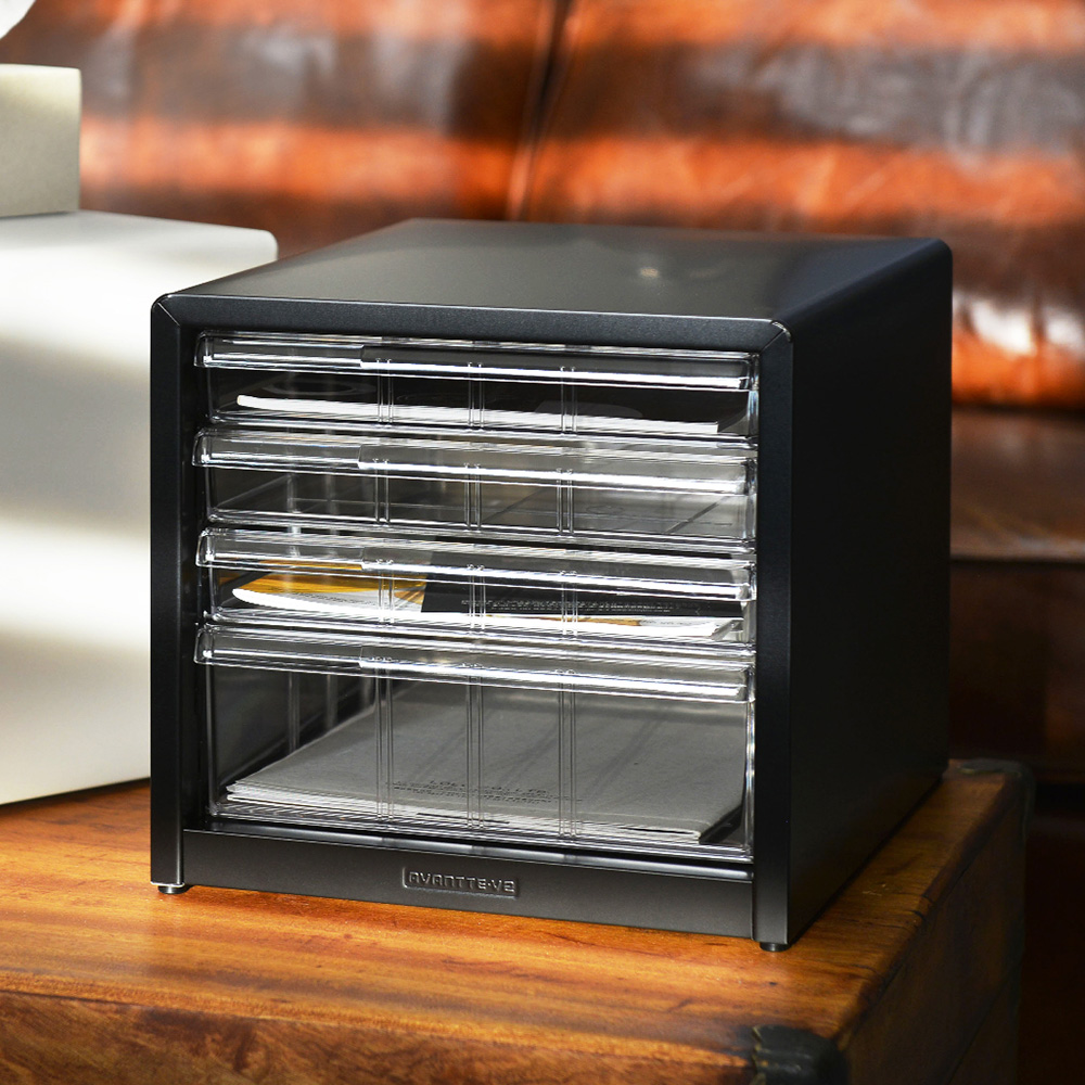 Nakabayashi|日本製鋼製桌上型A4文件櫃/資料櫃-3低抽+1高抽