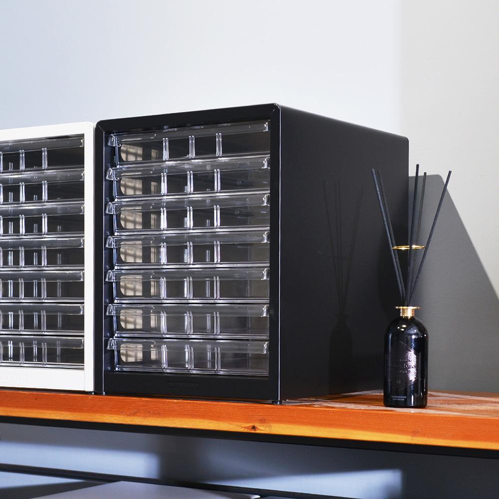 Nakabayashi|日本製鋼製桌上型A4文件櫃/資料櫃-7低抽