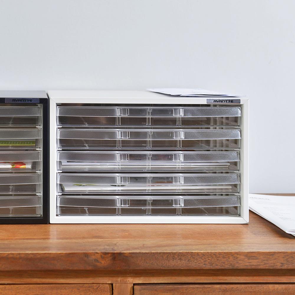 Nakabayashi|日本製鋼製橫式桌上型A4文件櫃/資料櫃-5低抽