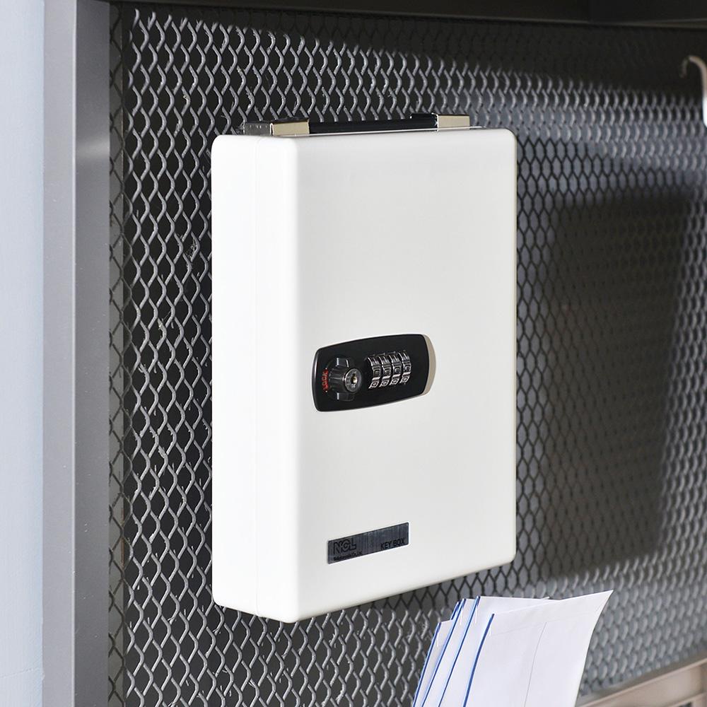 Nakabayashi|鋼製壁掛手提兩用密碼鎖型鑰匙管理箱(可收納20支鑰匙)