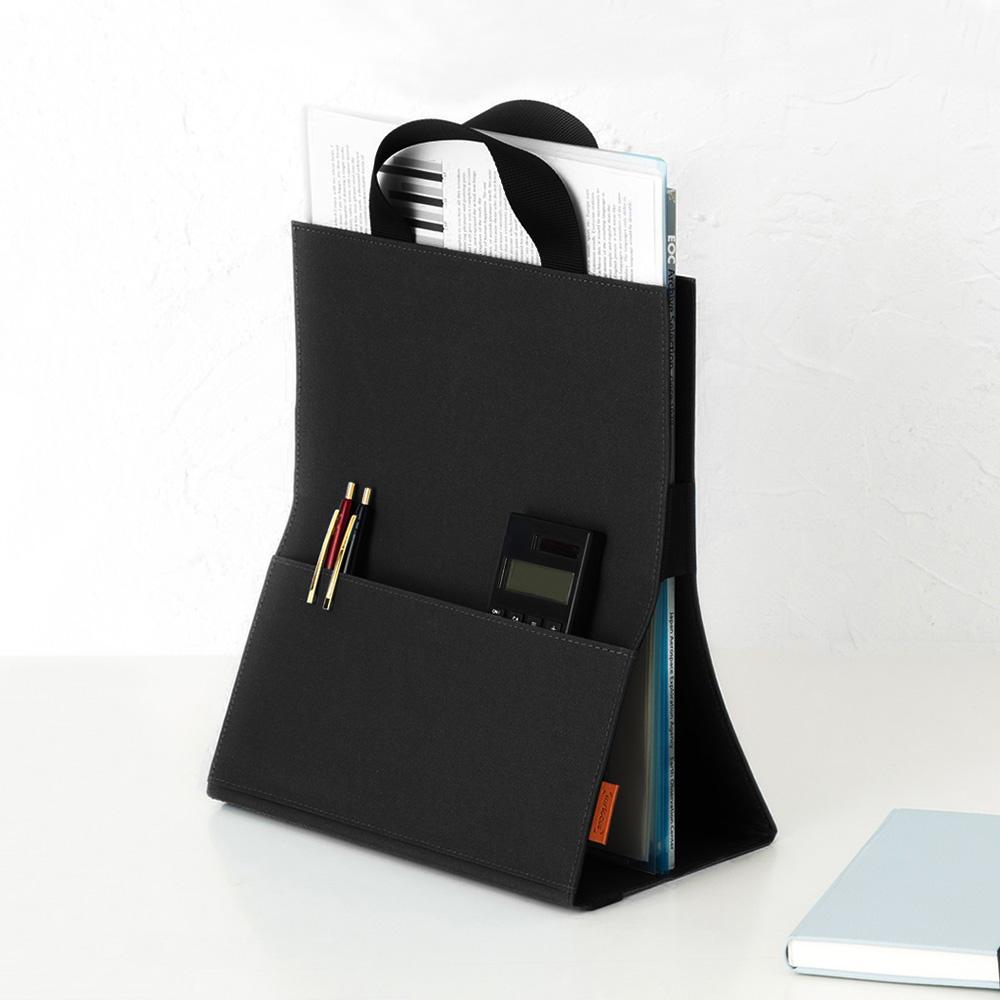 Nakabayashi|my focus 快收隨行可立式A4文件手提袋(附側收納袋)
