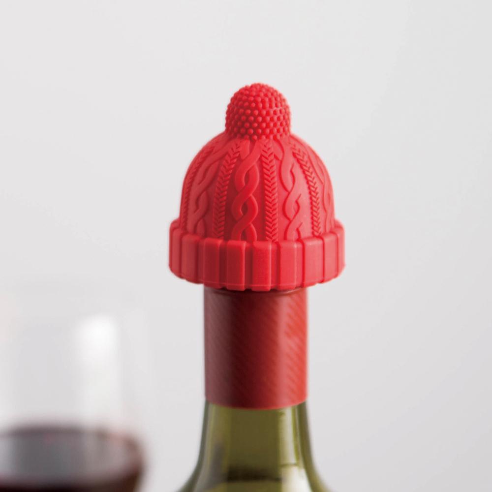 霜山|小紅帽造型矽膠密封酒瓶塞-3入