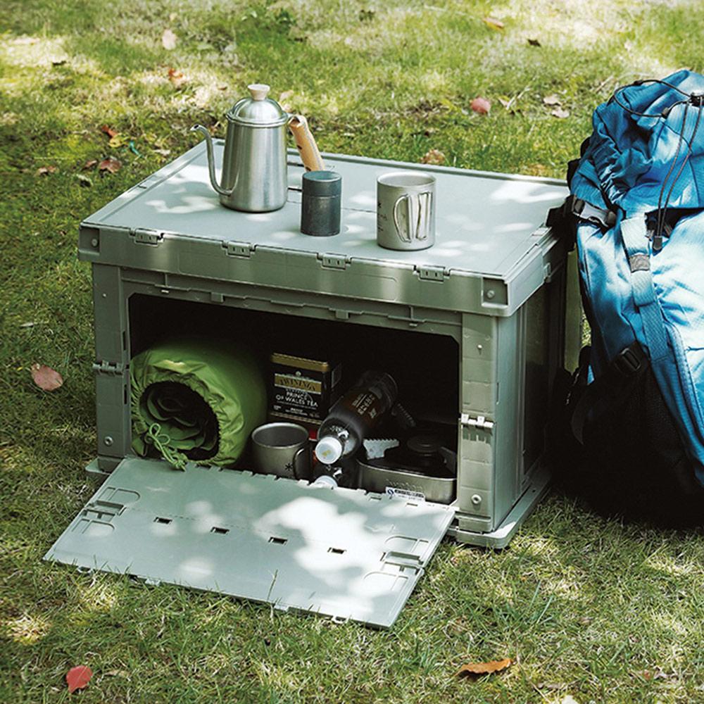 霜山|工業風耐重摺疊置物收納箱-75L-2色可選
