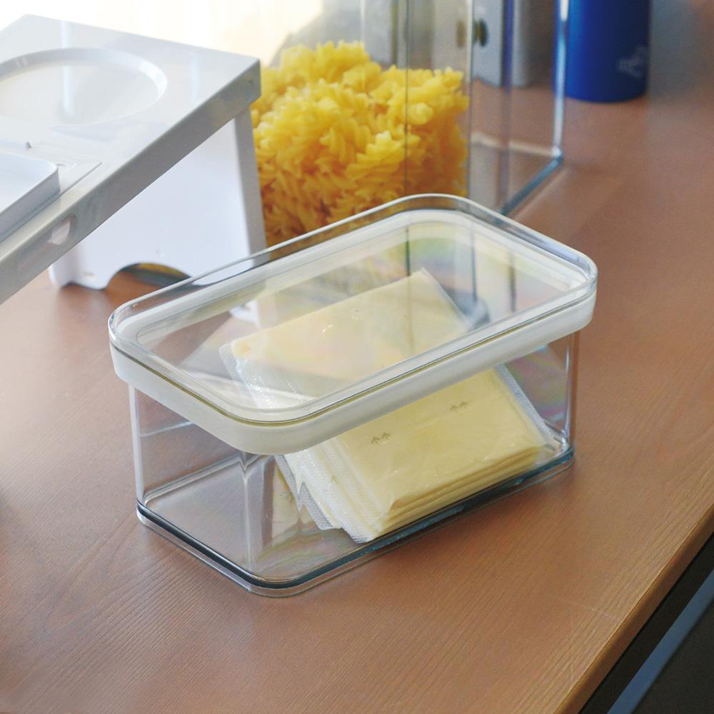 霜山 日製防潮保鮮透明儲物密封罐-0.9L-3入
