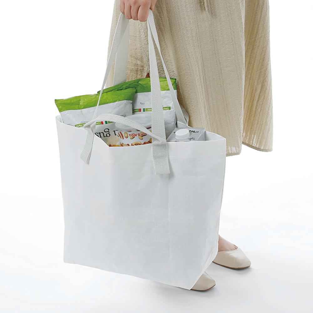 霜山|北歐風側背手提兩用防水購物袋-3入-加大款