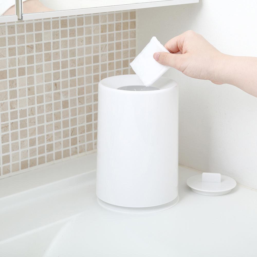 IDEACO|摩登圓形桌邊垃圾桶(附蓋)-1.2L
