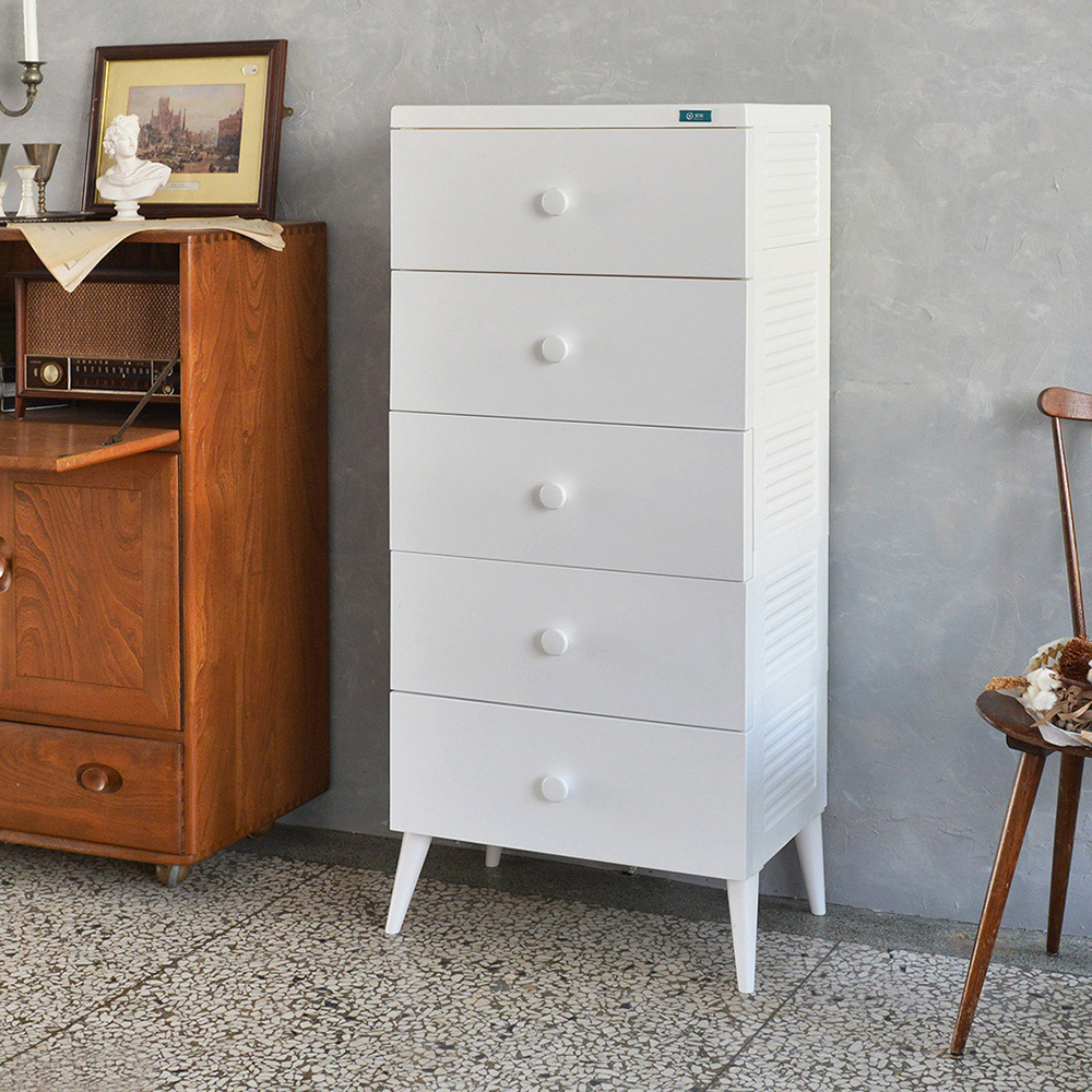 +O家窩|悠雅五層高腳抽屜收納櫃-DIY-4色可選
