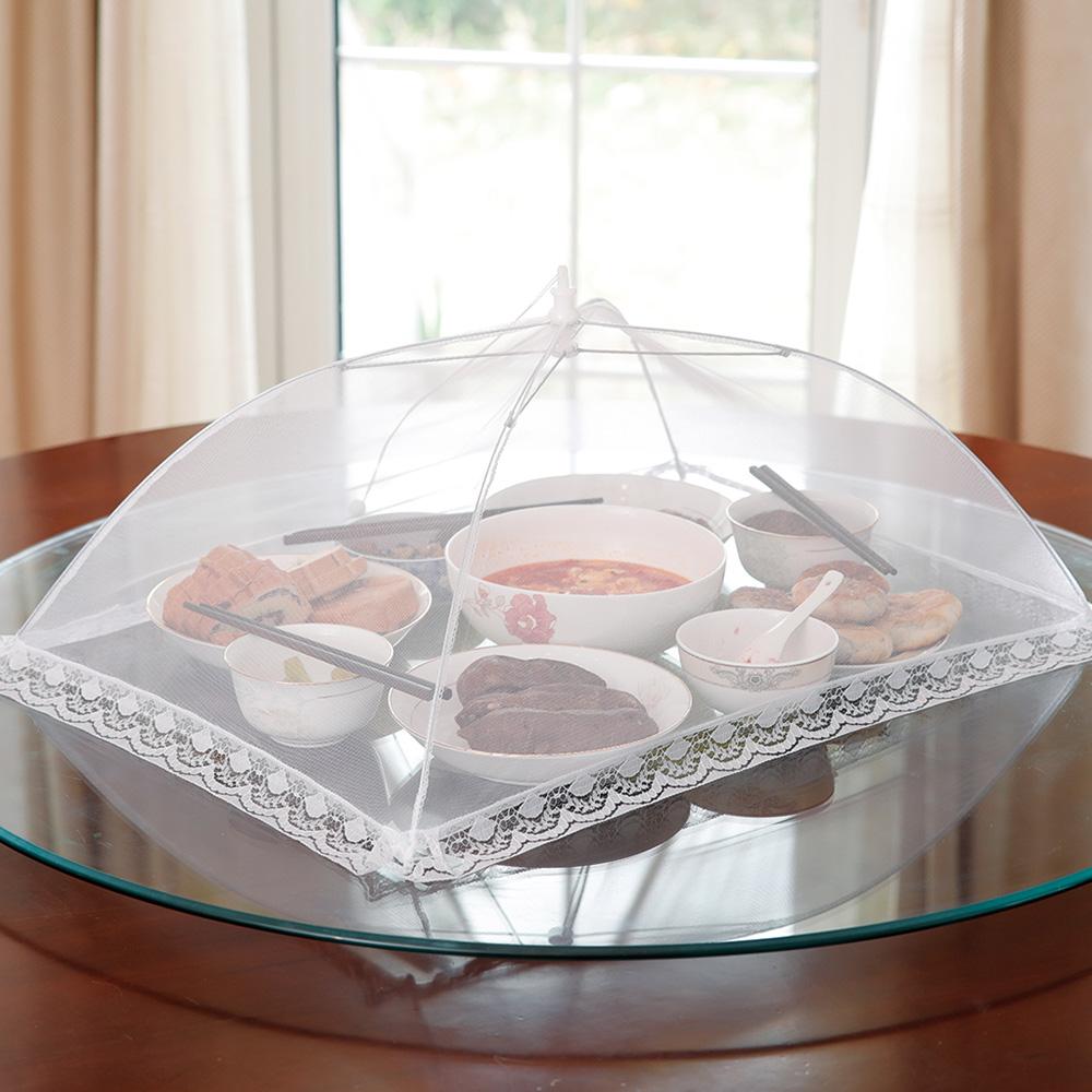 霜山|易開收可折疊防蠅餐桌飯菜罩(3-5人家庭適用)