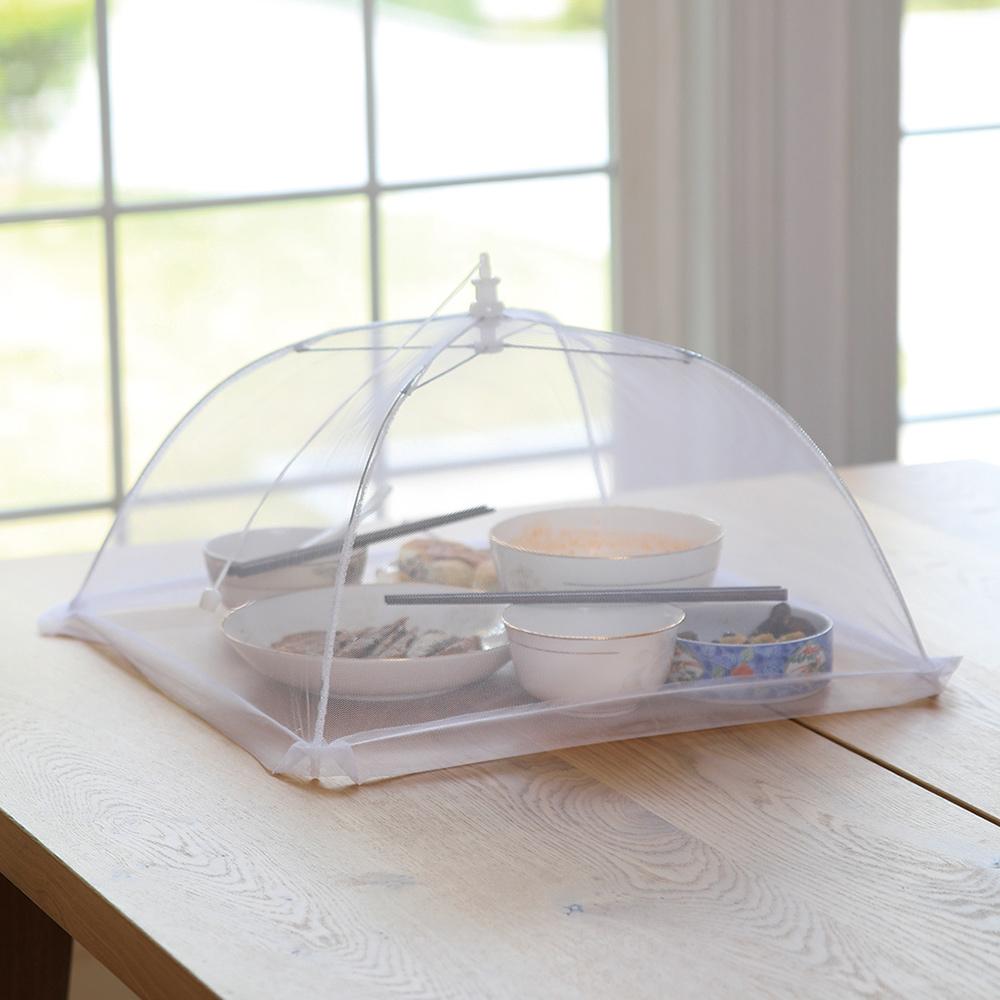 霜山|易開收可折疊防蠅餐桌飯菜罩(2-3人家庭適用)