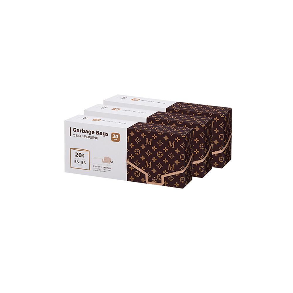 霜山|抽取式大口徑加厚透明垃圾袋-20L-3盒組 (共90張/55x55cm)