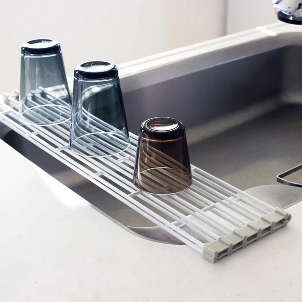 霜山|可摺疊多功能金屬水槽瀝水架