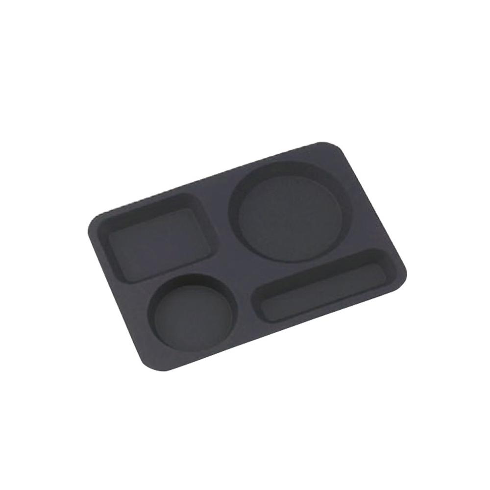 高桑élfin 不鏽鋼限定色個人餐盤-黑色