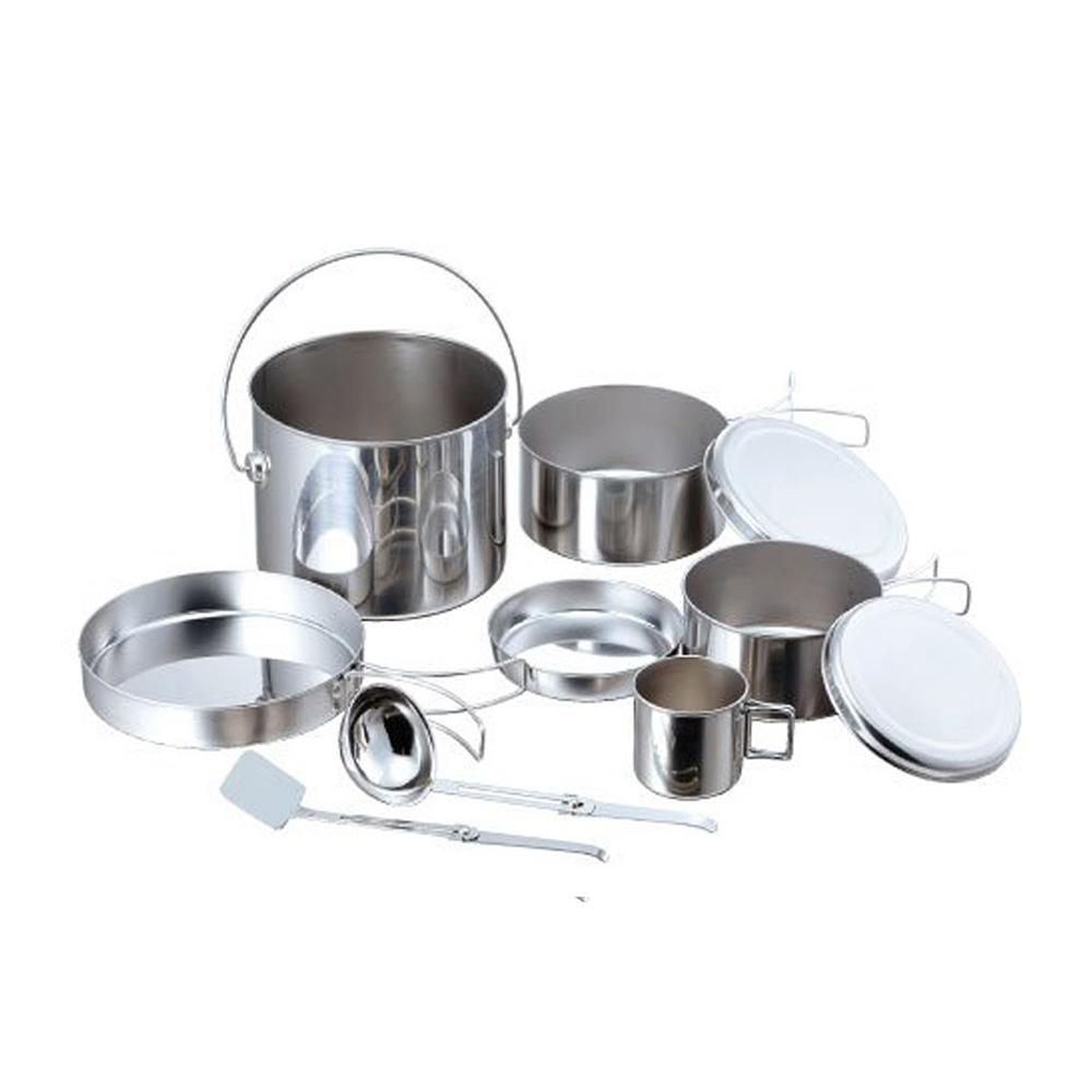 高桑élfin|不鏽鋼鍋碗杯盤萬用豪華8件組(附煎匙&湯杓)