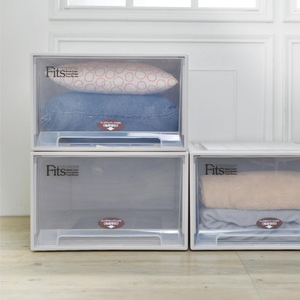 天馬|Fits特大款45寬單層抽屜收納櫃-高20cm 3入