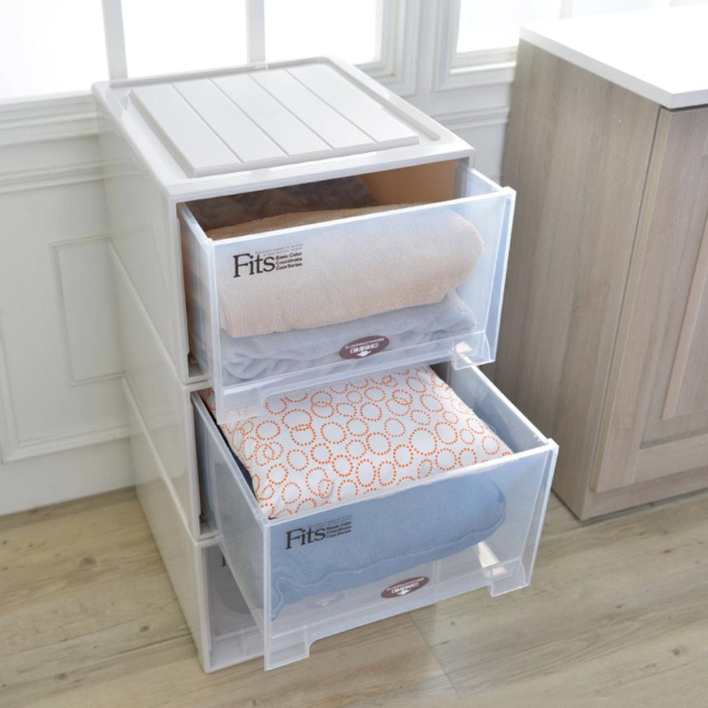 天馬|Fits特大款45寬單層抽屜收納櫃-高30cm 3入