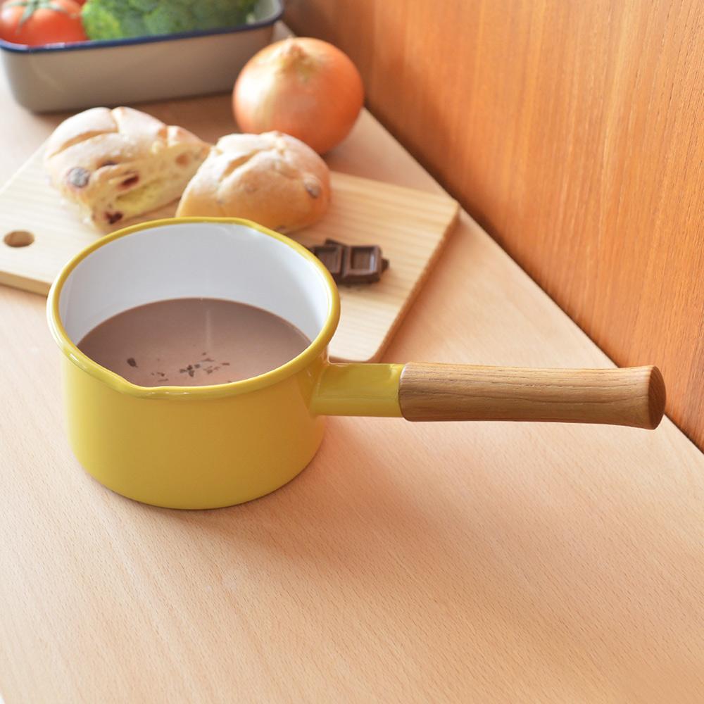 365methods 單柄琺瑯牛奶鍋(1.2L)-14cm