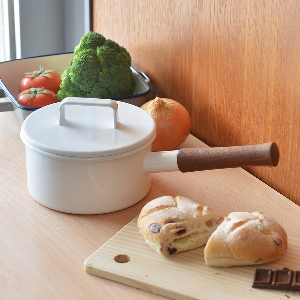 365methods|單柄附蓋琺瑯牛奶鍋(1.7L)-16cm