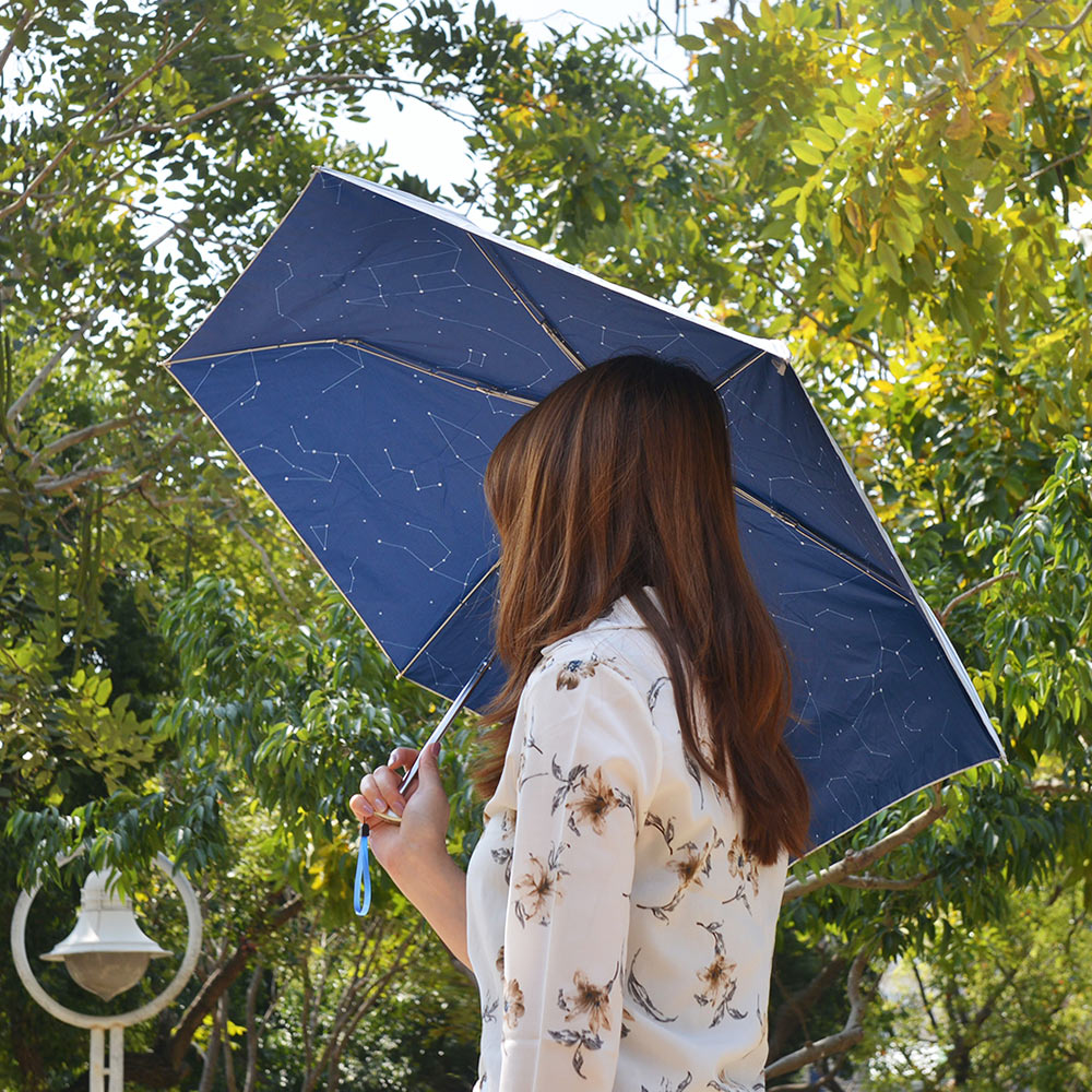 Waterfront|漫步星空下晴雨兩用防曬抗UV摺疊傘-4色可選