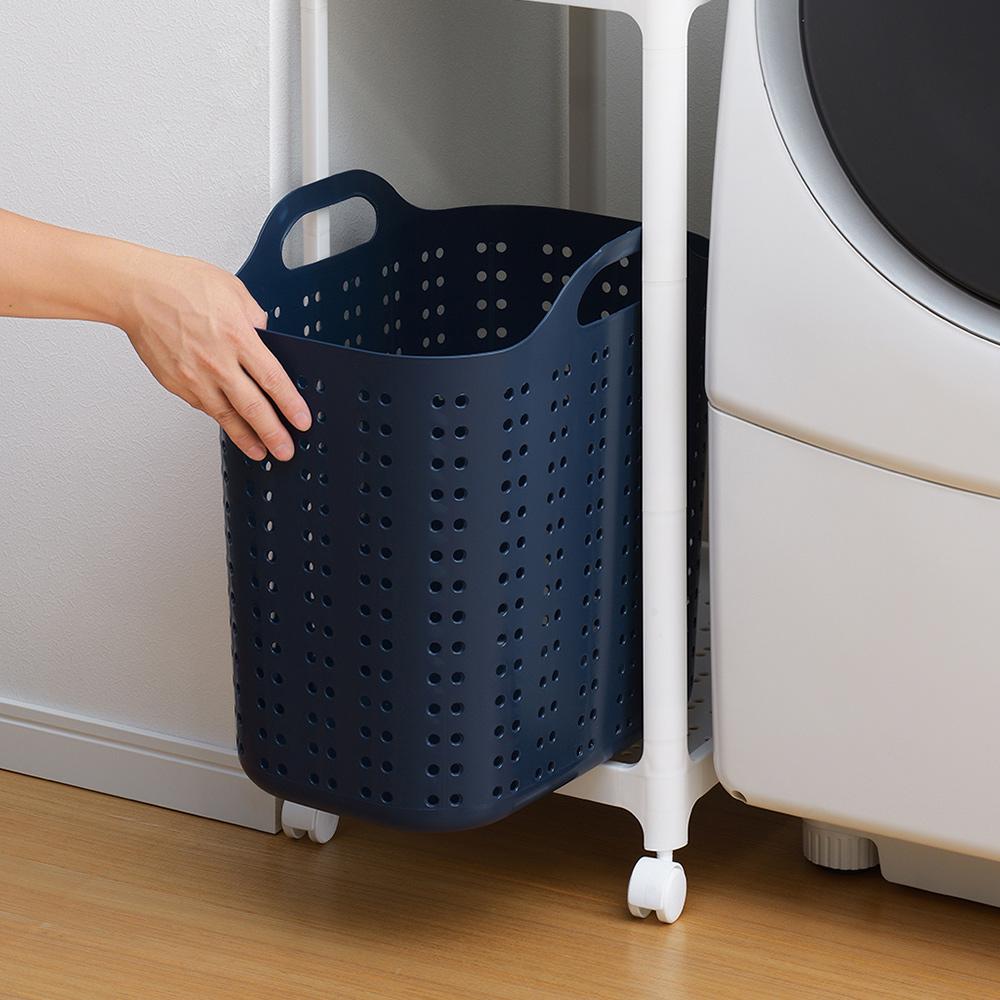 squ+|Volca日製加高隙縫型手提洗衣籃-L-4色可選